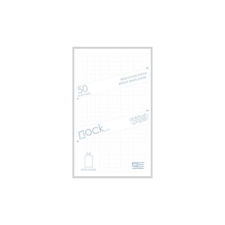 NOCK NOCK DOTDASH STANDARD NOTE CARDS DUSTY BLUE
