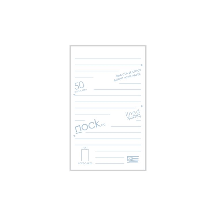 NOCK NOCK LINED AND BLANK STANDARD NOTE CARDS DUSTY BLUE/PINK