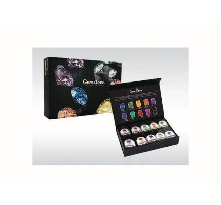 MONTEVERDE MONTEVERDE GEMSTONE COLLECTION - 10PC BOTTLED INK SET