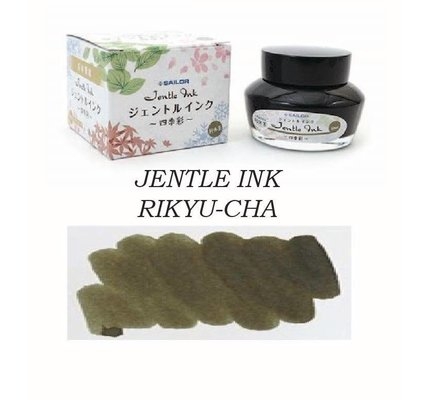 SAILOR SAILOR JENTLE RIKYU-CHA TEA (COLORS OF FOUR SEASONS) - 50ML BOTTLED INK
