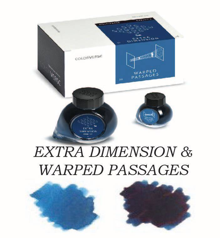 COLORVERSE COLORVERSE BOTTLED INK EXTRA DIMENSION & WARPED PASSAGES 65ML + 15 ML