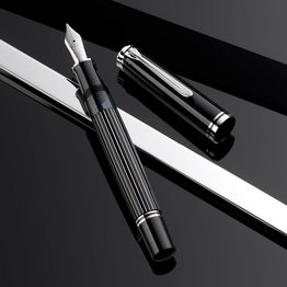 PELIKAN PELIKAN SPECIAL EDITION M815 SERIES FOUNTAIN PEN METAL STRIPED