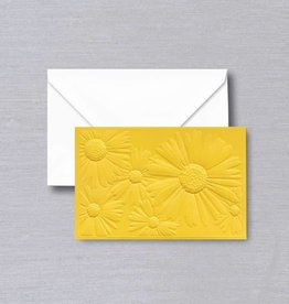 VERA WANG SAFFRON JEWLED DAISY EMBOSSED NOTES