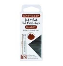 MONTEVERDE MONTEVERDE RED VELVET - INK CARTRIDGES
