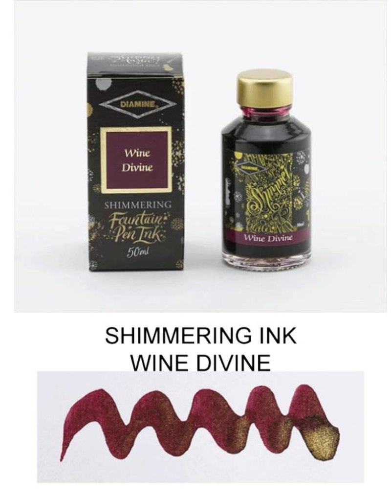 DIAMINE DIAMINE WINE DIVINE - 50ML SHIMMERING BOTTLED INK