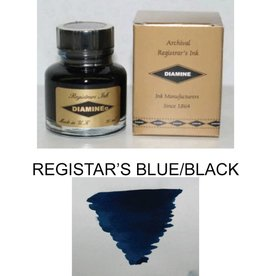 DIAMINE DIAMINE REGISTRARS BLUE/BLACK - 30ML BOTTLED INK