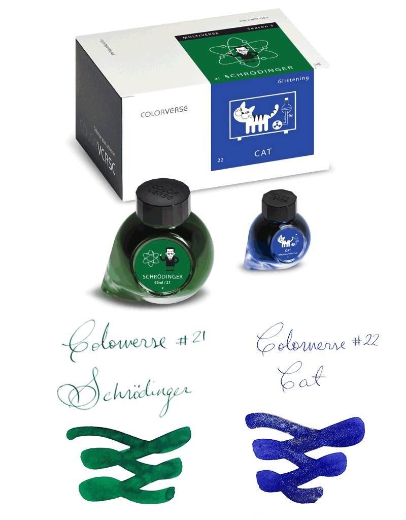 COLORVERSE COLORVERSE SCHRODINGER & CAT - 65ML + 15ML BOTTLED INK