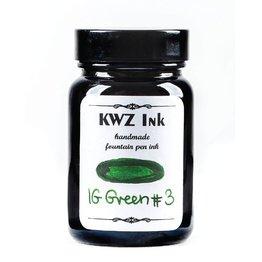 KWZ INK KWZ IRON GALL BOTTLED INK 60ML GREEN #3