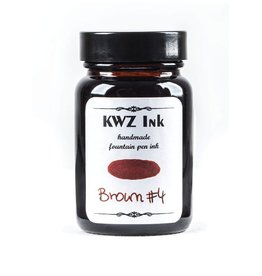 KWZ INK KWZ STANDARD BOTTLED INK 60ML BROWN #4
