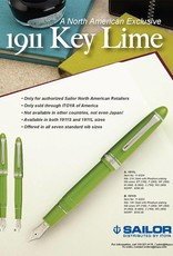 SAILOR SAILOR 1911S STANDARD KEY LIME FOUNTAIN PEN
