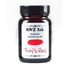 KWZ INK KWZ STANDARD BOTTLED INK 60ML THIEFS RED
