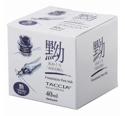 TACCIA TACCIA AOGURO BLUE-BLACK 40ML BOTTLED INK