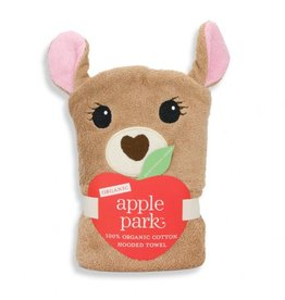 APPLE PARK Fawn Hooded Towel