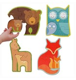 PETIT COLLAGE Forest Babies Beginner Puzzle