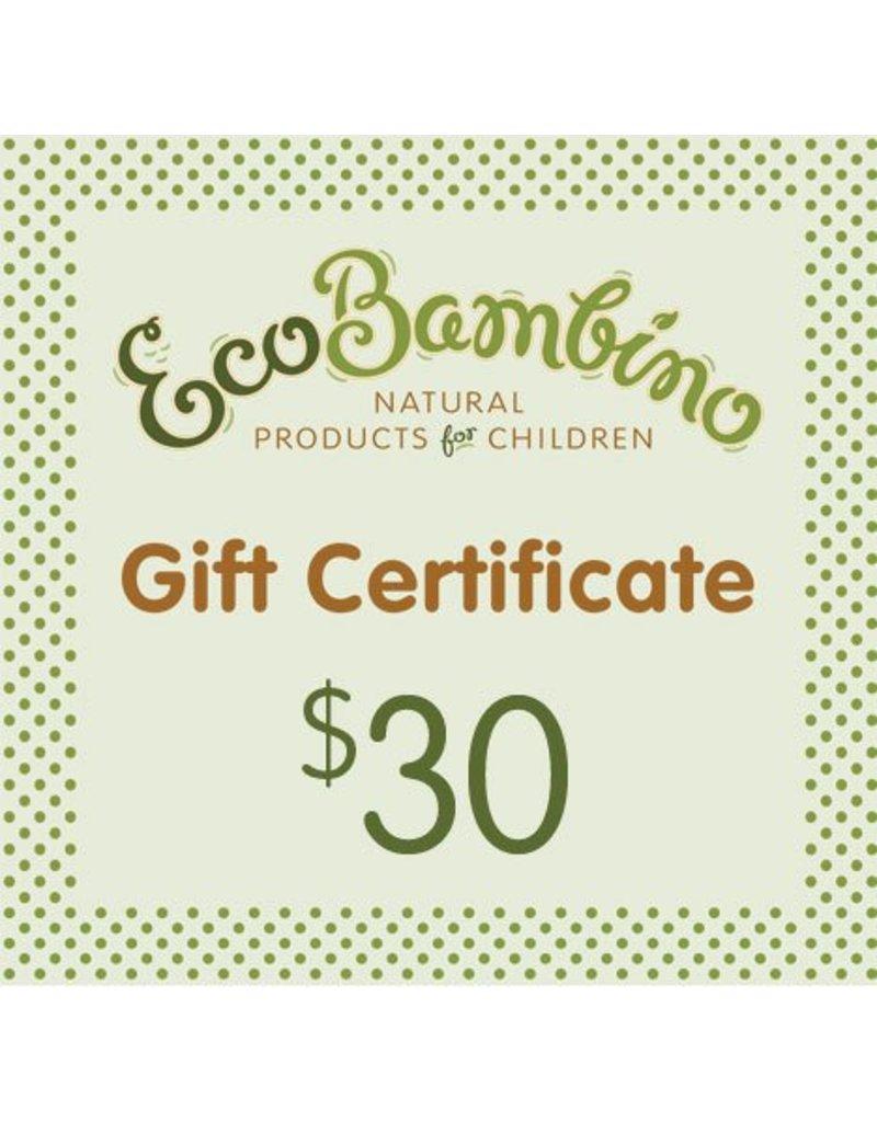 $30 EcoBambino Gift Card