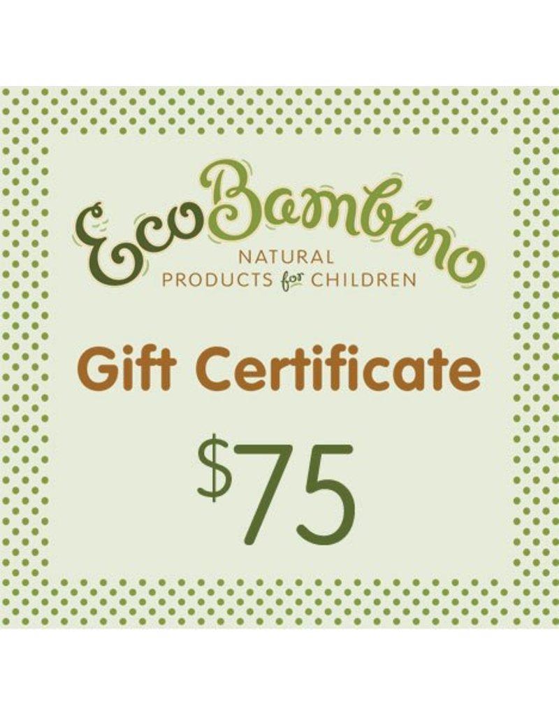 $75 EcoBambino Gift Card