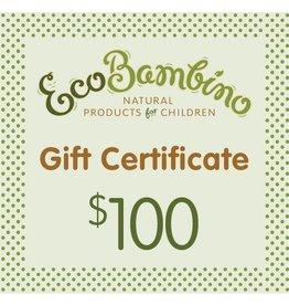 $100 EcoBambino Gift Card