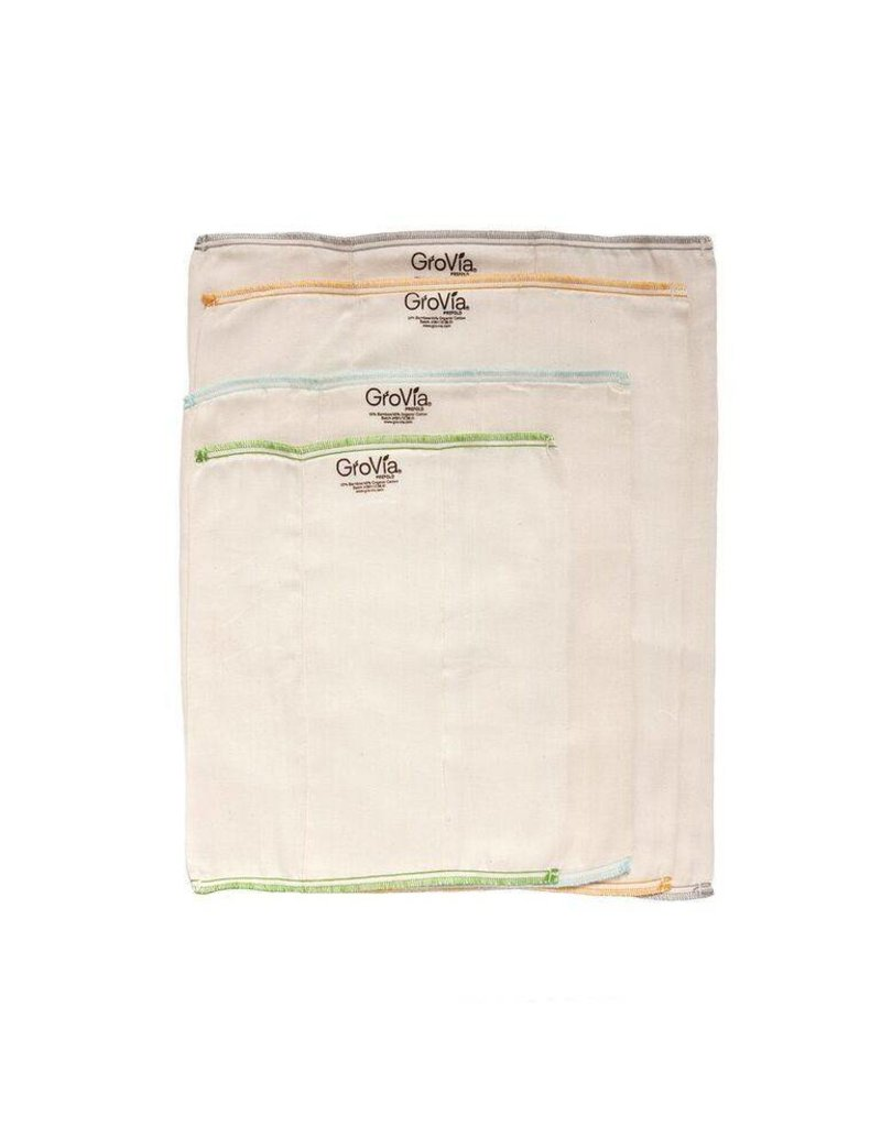 GROVIA GroVia Prefold Cloth Diapers - Pack of 3