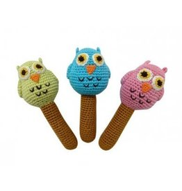 CHEENGOO Owl Stick Rattle