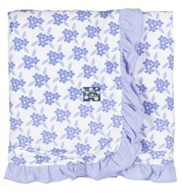 KICKEE PANTS Forget Me Not Floral Ruffle Stroller Blanket