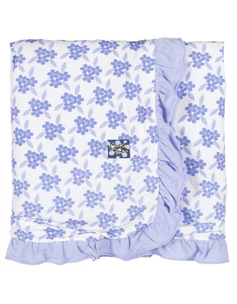 KICKEE PANTS Forget Me Not Floral Ruffle Stroller Blanket