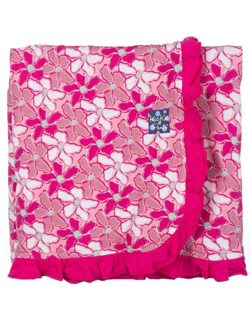 KICKEE PANTS Desert Flower Ruffle Stroller Blanket