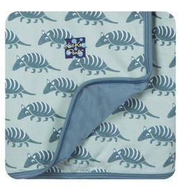 KICKEE PANTS Aloe Armadillo Stroller Blanket