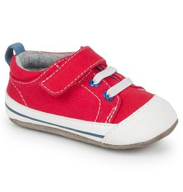 SEE KAI RUN Stevie II Red Canvas Crib Shoe