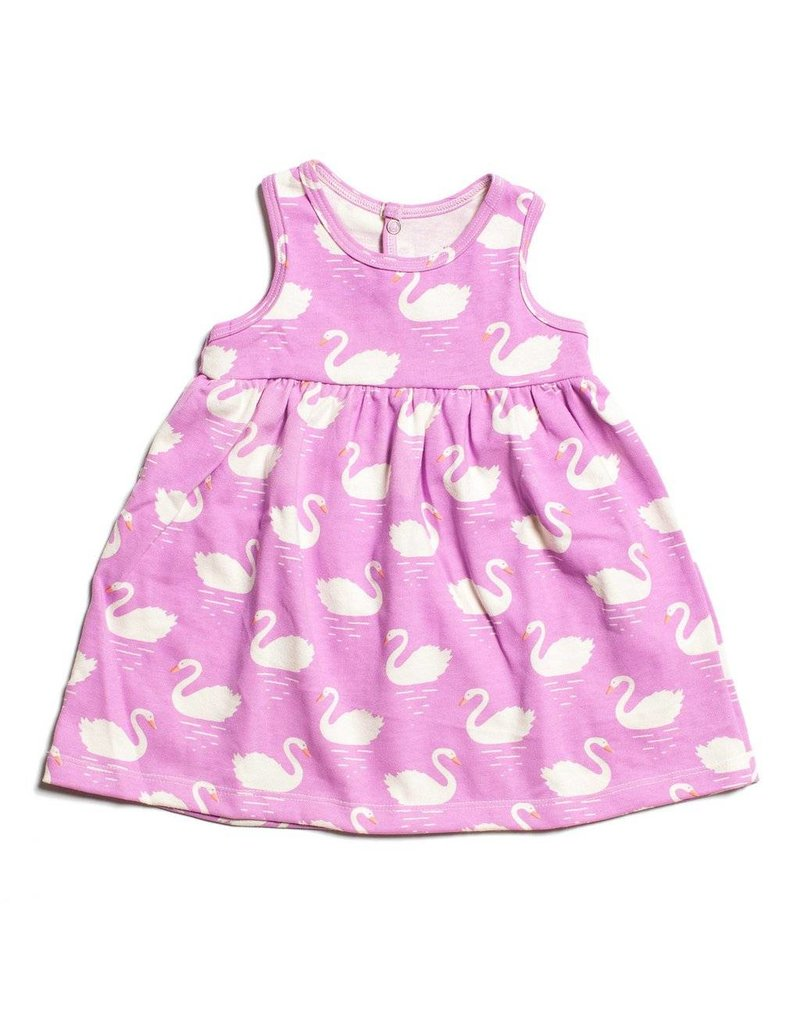 WINTER WATER FACTORY Oslo Baby Dress - Swans Magenta