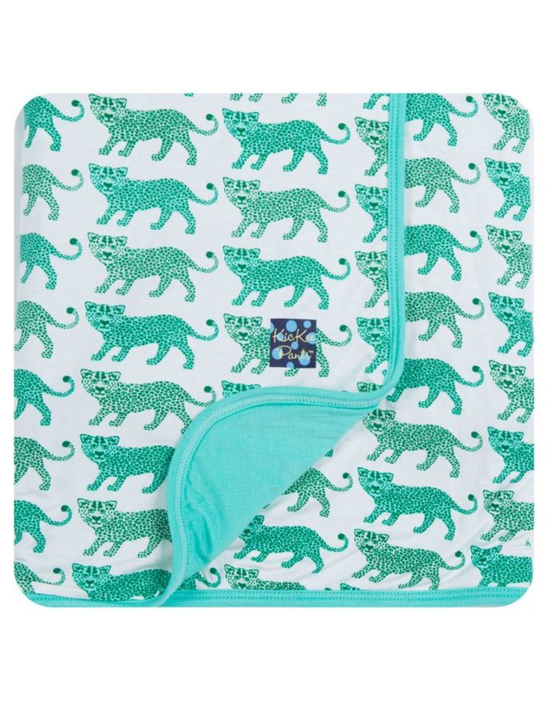 KICKEE PANTS Natural Leopard Stroller Blanket