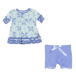 KICKEE PANTS Aloe Butterfly Babydoll Outfit Set