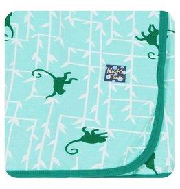 KICKEE PANTS Glass Forest Monkey Swaddling Blanket