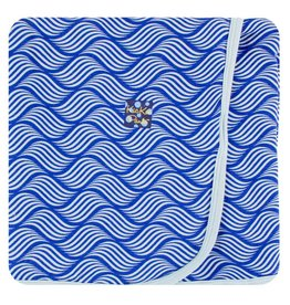 KICKEE PANTS Kite Water Lattice Swaddling Blanket