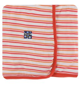 KICKEE PANTS Girl Fresh Water Stripe Swaddling Blanket