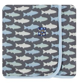 KICKEE PANTS Stone Trout Swaddling Blanket