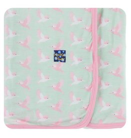 KICKEE PANTS Aloe Kingfisher Swaddling Blanket