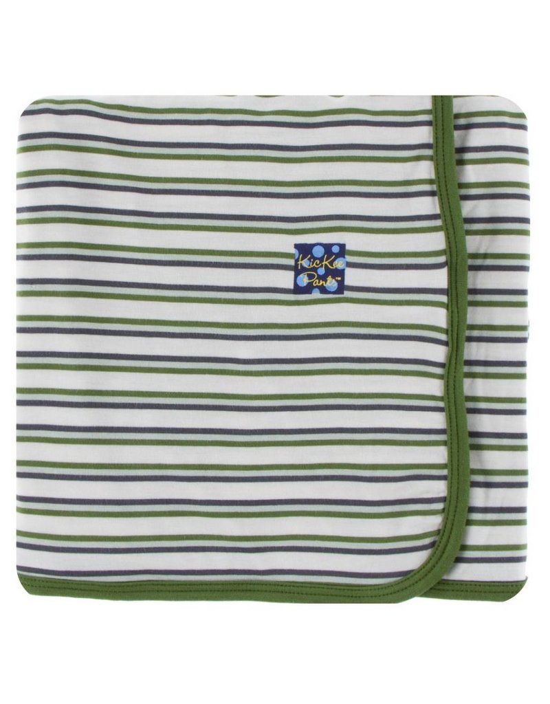 KICKEE PANTS Boy Fresh Water Stripe Swaddling Blanket