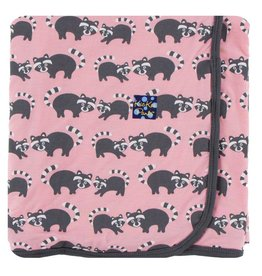 KICKEE PANTS Lotus Raccoon Swaddling Blanket