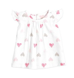 ADEN & ANAIS Sketch Hearts Flutter Sleeve Top & Bloomer