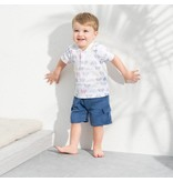 ADEN & ANAIS Cycles Henley T-Shirt & Navy Cargo Shorts