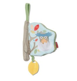 SKIP HOP Treetop Friends Soft Book - Grey/Pastel