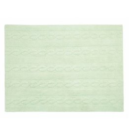 "LORENA CANALS Lorena Canals Braids Soft Mint Rug (4 'x 5'3"")"