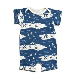WINTER WATER FACTORY Summer Romper - Beach Day Navy