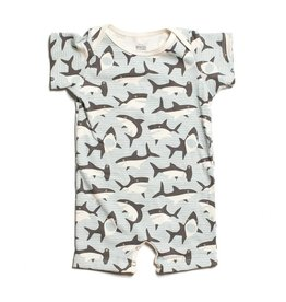 WINTER WATER FACTORY Summer Romper - Sharks Grey