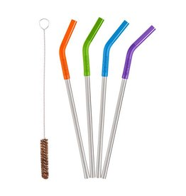 KLEAN KANTEEN 5 Piece Stainless Steel Straw Set - Multicolor