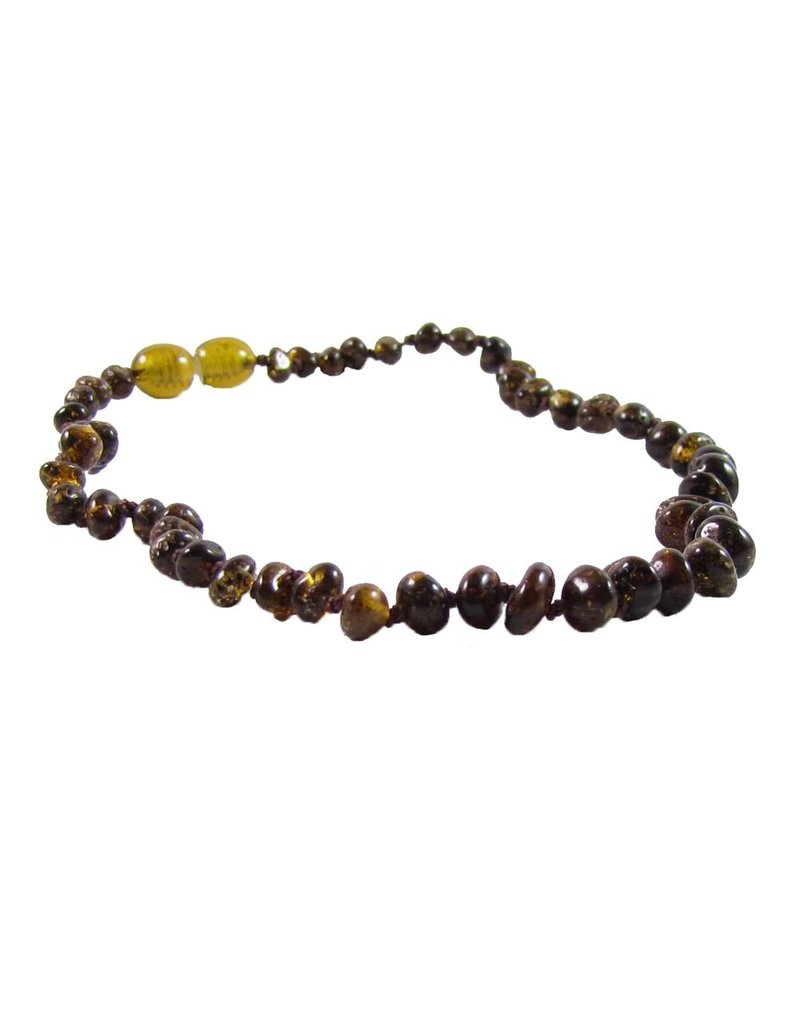 "THE AMBER MONKEY The Amber Monkey 10-11"" Screw Clasp Necklace"