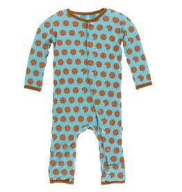 KICKEE PANTS Glacier Cookie Coverall with Snaps
