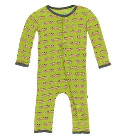 KICKEE PANTS Meadow Cow Coverall with Snaps