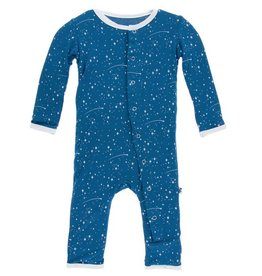KICKEE PANTS Twilight Starry Sky Coverall with Snaps