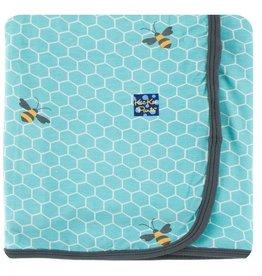 KICKEE PANTS Glacier Honeycomb Swaddling Blanket